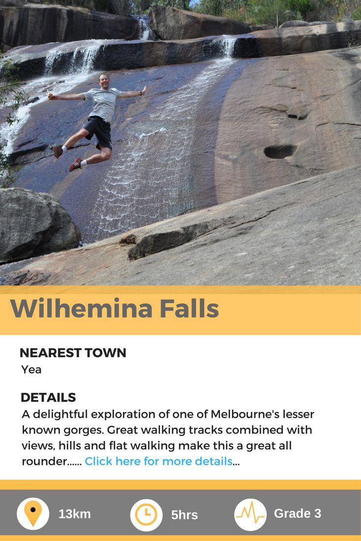 Wilhemina falls, a fantastic day walk in Melbourne, Australia.