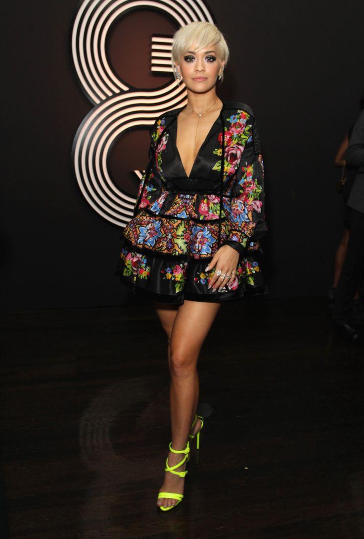 Rita Ora At the GQ and Giorgio Armani Grammys After Party.   - ELLE.com