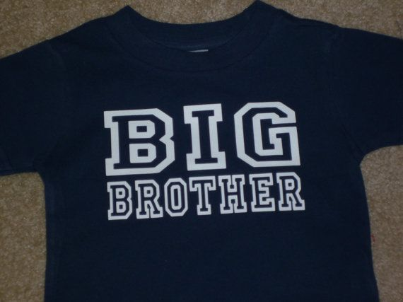Big Brother shirt Available for Big, Bigger, Biggest, Baby, Little, Middle brother and sisters on Etsy, $13.00