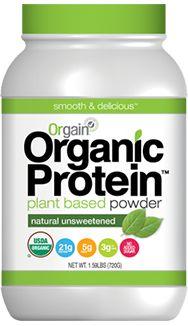 Orgain Organic Plant Based Protein Powder - Unsweetened