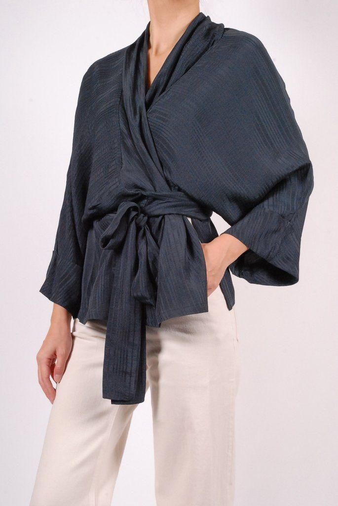 Rodebjer Tennessee Silk Kimono Top + Rachel Comey Legion Pant Dirty White