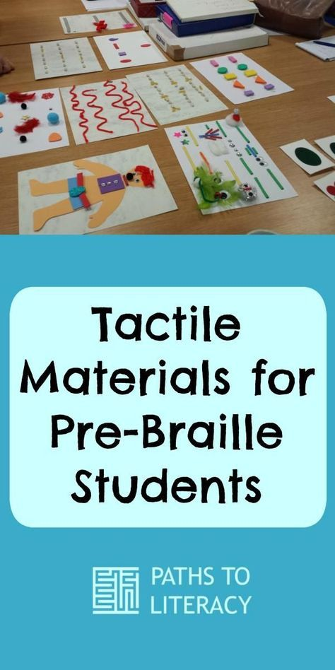 Here are some fun ideas for using tactile materials to teach pre-braille students tracking, matching and other skills to promote braille literacy.