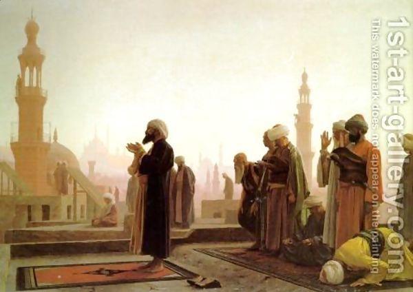Prayer In Cairo - Jean-Léon Gérôme - Oil Painting Reproductions