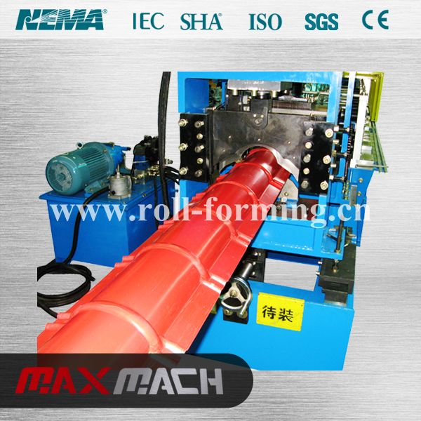 Name: Ridge cap roll forming machine We focused in high quality roll forming machine with more than 20 years experience. We specializing in the manufacture and export of roll forming machinery and steel structure machinery such as tile roll former, steel roof roll forming machine, frame roll forming machinery, ect.  Web.: http//www.roll-machine.com E-mail: info@roll-forming.cn  Tel.: +86-571- 82897908