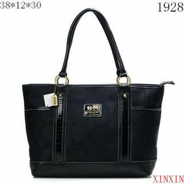 Discount Coach Madison In Signature Large Black Totes ANG Clearance