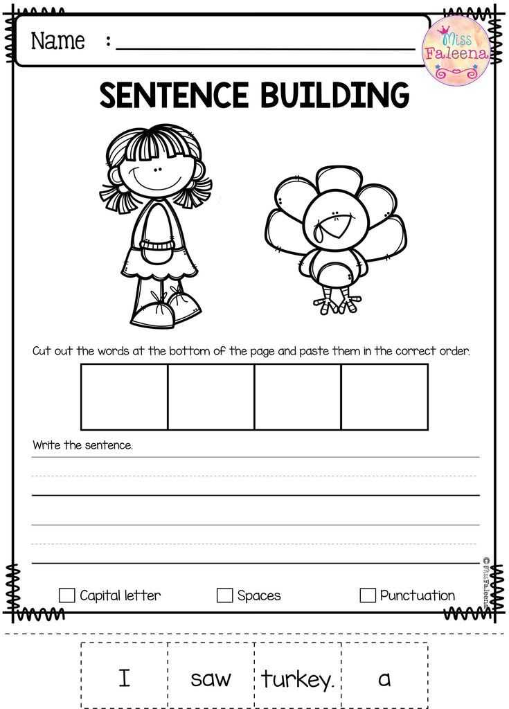 November Sentence Building Has 30 Pages Of Sentence Building Worksheets This Product Wi Sentence Building Kindergarten Worksheets Sentence Building Worksheets