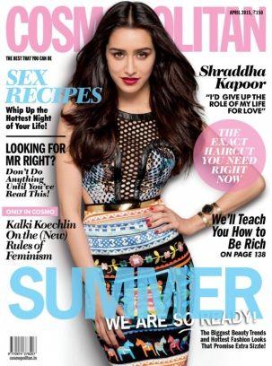Cosmopolitan India April 2015 Shraddha Kapoor