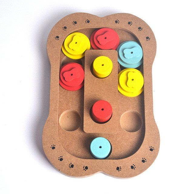 Interactive toys for dogs and cats Food treated wooden pet toys