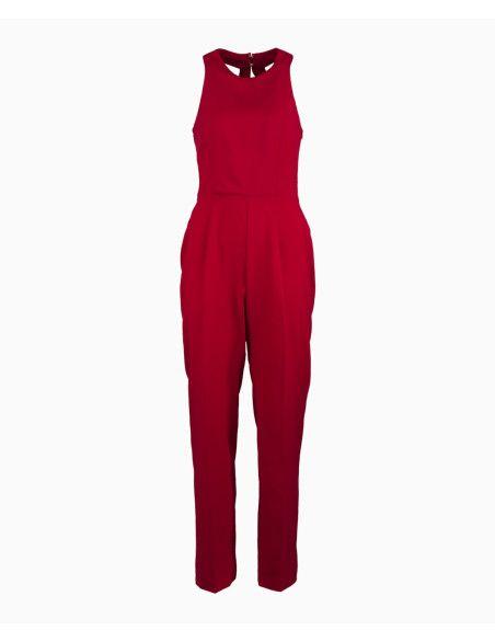 Tori Michaels - Draped Back Jumpsuit - Red