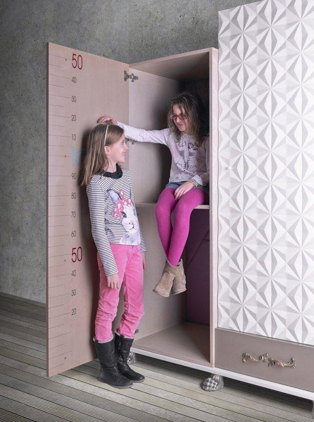Schön Holz Kleiderschrank Kinderzimmer Messlatte Innenseite Tür TETRIS Lola  Glamour Mehr
