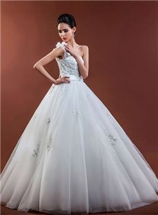 Winter Natural Plus Size Sleeveless Off-the-Shoulder Spring Flowers Garden/Outdoor Wedding Dress