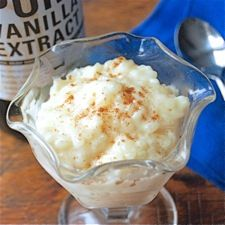 Vanilla Rice Pudding: King Arthur Flour  (This is sooo yummy...I followed this recipe but used the directions from a Zojirushi Rice Cooker Recipe to make this in my rice cooker...it just turned out wonderful...and my cooker made it so easy to make...both my husband and I loved this)