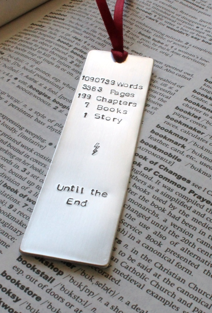 Metal Stamped Personalised Bookmark - Harry Potter Book Lover. £8.00, via Etsy.