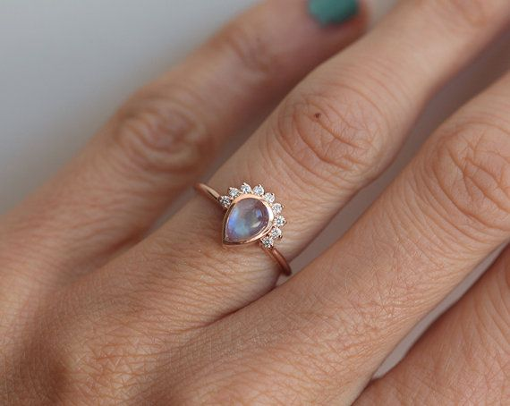 25 best ideas about moonstone engagement rings on