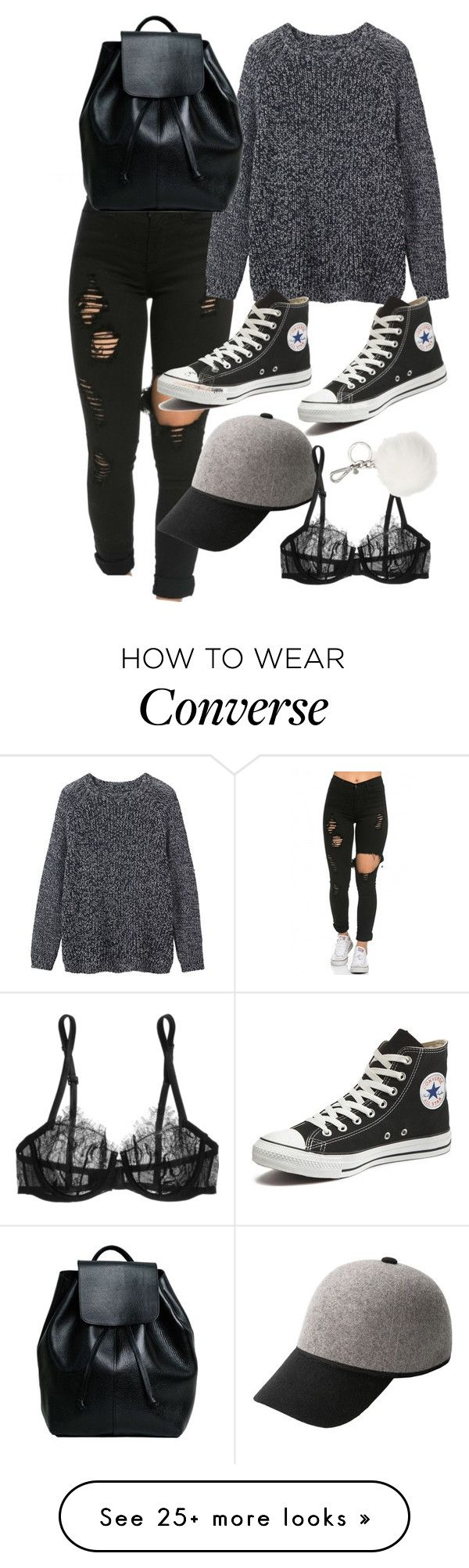 Untitled #9061 by katgorostiza on Polyvore featuring Toast, Converse, MANGO, La Perla, Michael Kors, women's clothing, women's fashion, women, female and woman
