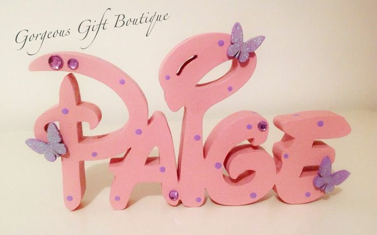 Disney Name Sign Plaque Personalised Free Standing Name