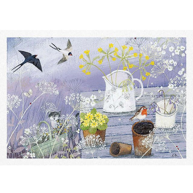 BuyWoodmansterne Gardener's Table Greeting Card Online at johnlewis.com