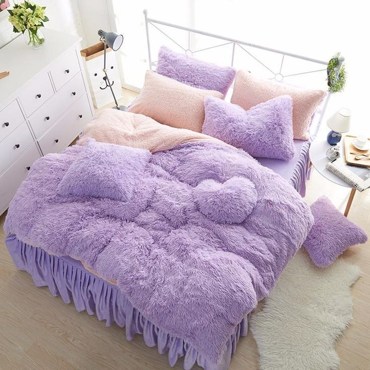 Luxury Plush Faux Fur Bedding Duvet Cover Set3 4 6 7pcs Everything You Are Looking Bed Linen Sets Bed Linens Luxury Bed Duvet Covers