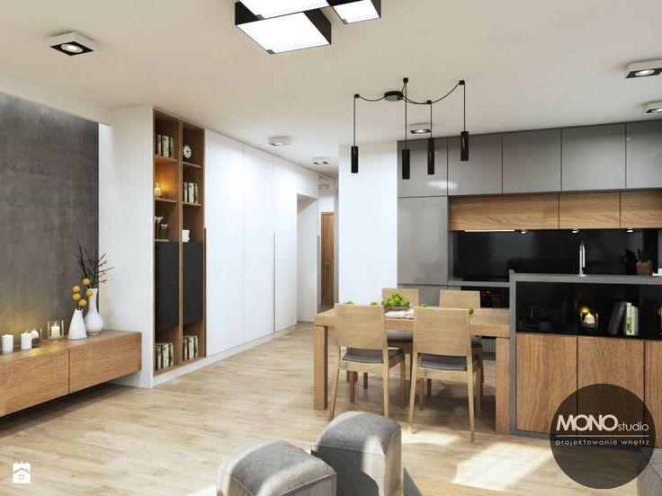 Kuchnia otwarta na salon - zdjęcie od MONOstudio - Kuchnia - Styl Nowoczesny - MONOstudio