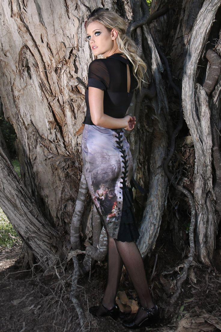 Midsummer Nights Bustle Skirt (Print)