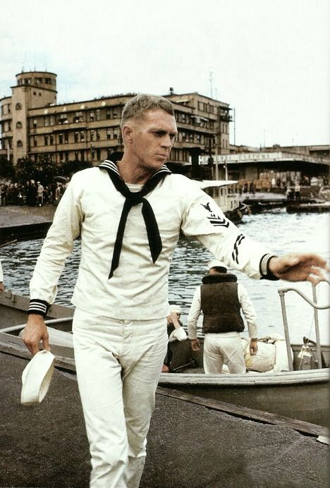 SAILOR WHITES ON STEVE MCQUEEN. OH WHAT A DREAM. THE HOKEY POKEY MAN AND AN INSANE HAWKER OF FISH BY CONNIE DURAND. AVAILABLE ON AMAZON KINDLE.