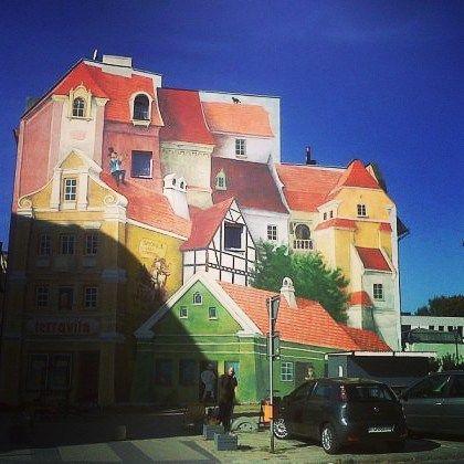 Poznań moje ulubione miasto #poznań #srodka #mural #jakwdomu #kolory #jakwbajce #paint #miasto #kocham