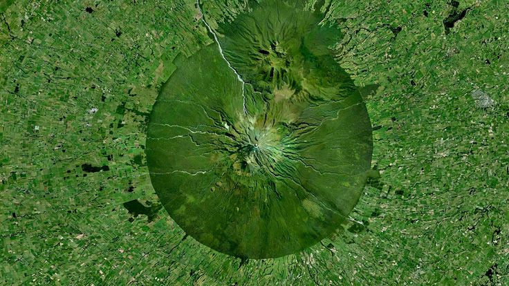 Beautiful, Troubling Photos Show Our Planet as Astronauts See It | Mount Taranaki,North Island, New Zealand   Benjamin Grant/DigitalGlobe  | WIRED.com