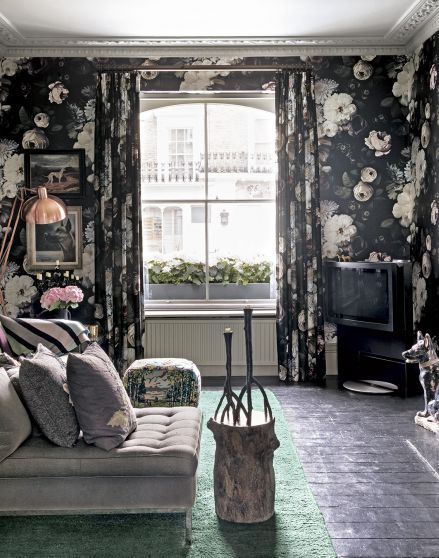 Delve Into Your Dark Side With A Gothic Inspired Black Floral Wallpaper. Part 52