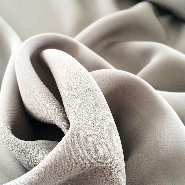 Beige Crêpe Silk closeup