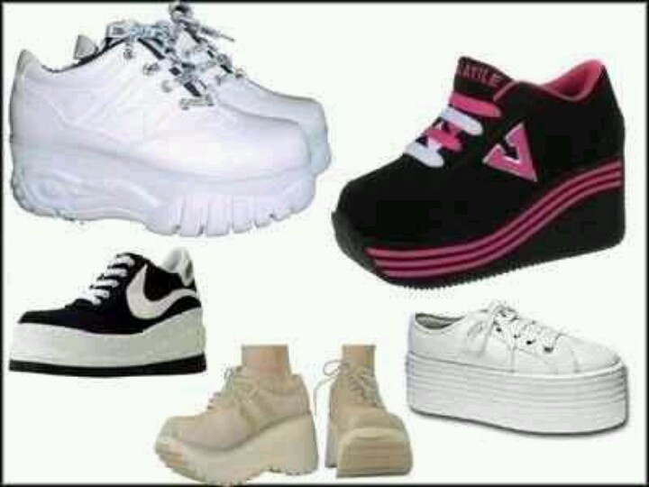 007412b79cd Spice Girl shoes i had these in every color combination! 90s Platform ...