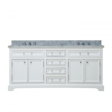 Love This : 60 Inch Double Sink Bathroom Vanity with Soft Closing Doors