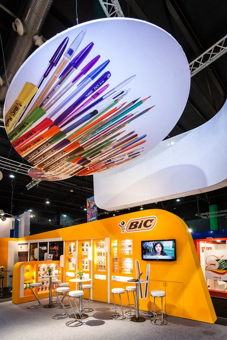 Can't miss this overhead graphic! ~ Creative exhibition booths for trade-shows built and designed by TriadCreativeGroup.com