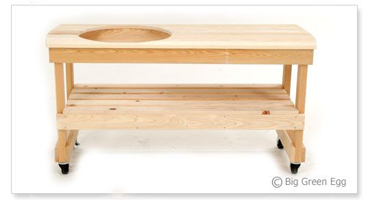 link to table dimensions for large green egg, except build it longer.