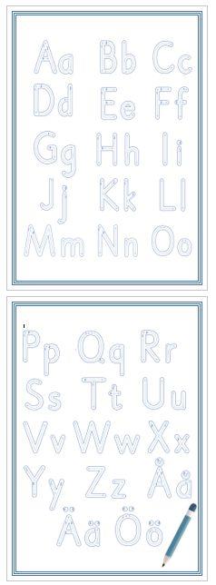 Spåra bokstäver