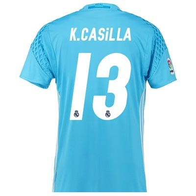 Image of Real Madrid Home Goalkeeper Shirt 2016-17 with K.Casilla 13 printing