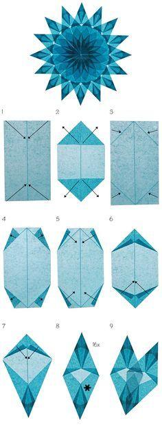Fensterstern hellblau (Format 12.8 cm x 7.5 cm)