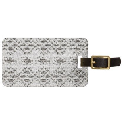 Shabby Chic Vintage Lace Designs Luggage Tag - lace gifts style diy unique special ideas