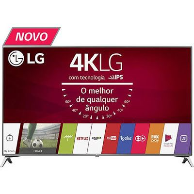 "Smart TV LED 43"" LG 43UJ6525 Ultra HD 4K 4 HDMI 2 USB WebOS 3.5 Painel Ips HDR << R$ 196649 >>"