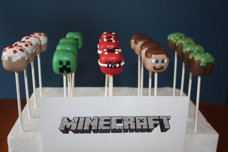 Minecraft Cake Pops! www.facebook.com/katiessweetshoppe #minecraft #cakepops