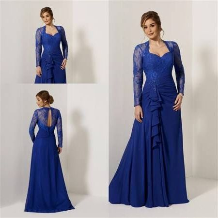 Awesome Royal Blue Dress For Wedding With Sleeves 2018-2019