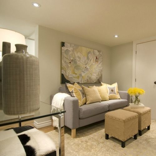 Basement Apartments from HGTV's Income Property: Cool Neutrals Create a Calm Space