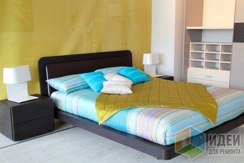 Аксессуары для спальни, декор спальни, яркое покрывало на кровать
