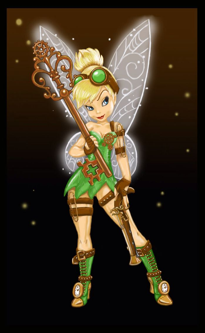 Green tank, brown shorts, green flats, wings and maybe ears