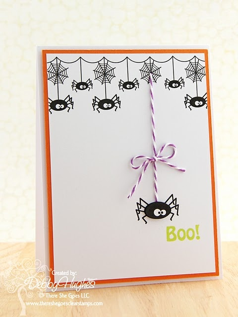 cute spider card   use thumprint for spider body