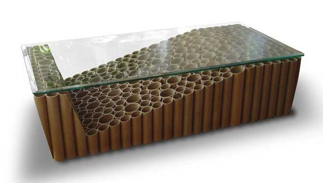 made from cardboard tubes, but you could easily replicate with bamboo