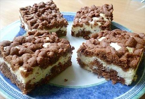 Obrázek z Recept - Strouhaný koláč s kokosovým tvarohem