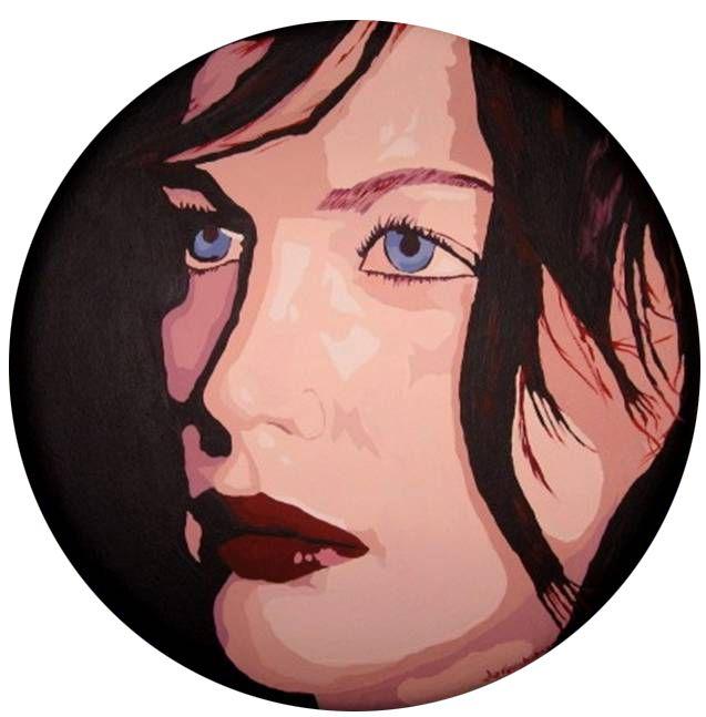 Deniz Gökduman, Mavi Gözlü Kız, Çap 30 cm. T.Ü.Akr.B. 2007,