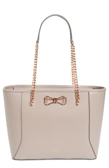 Ted Baker London Ted Baker London 'Jalie - Geometric Bow' Leather Shopper available at #Nordstrom