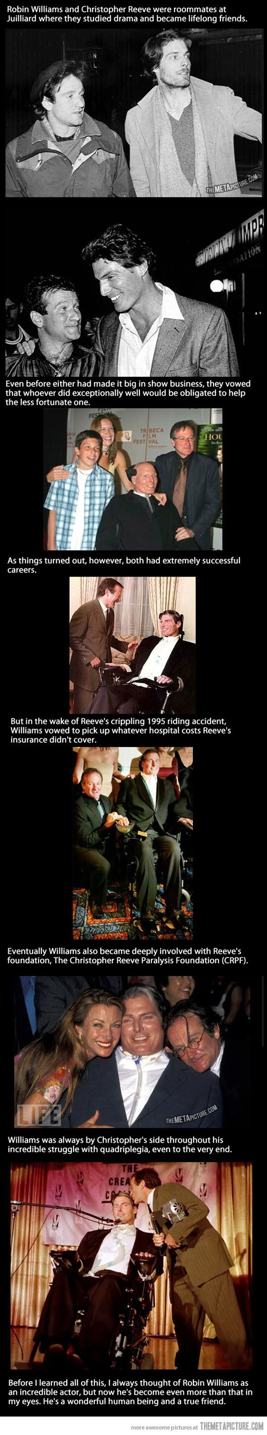 Robin Williams & Christopher Reeves friendship