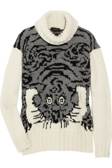 Joseph|Tiger-intarsia wool-blend sweater|NET-A-PORTER.COM - StyleSays